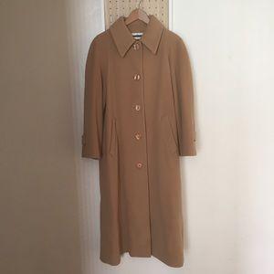 VINTAGE Wool Cashmere Long Coat like new